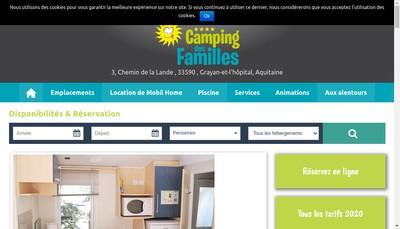 Site internet de Camping des Familles