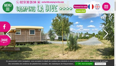 Site internet de SARL la Dive