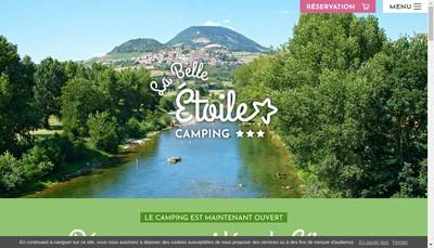 Site internet de Camping la Belle Etoile