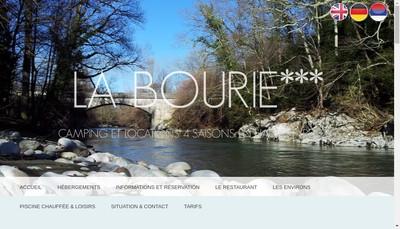 Site internet de Camping la Bourie