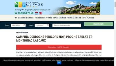 Site internet de Camping la Fage
