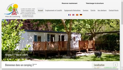 Site internet de Camping Mas de Lastourg