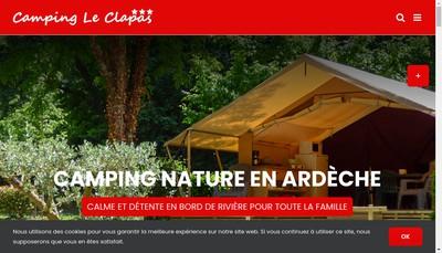 Site internet de Camping le Clapas
