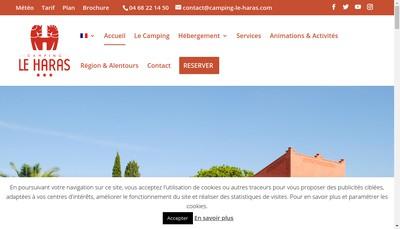 Site internet de Camping le Haras