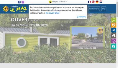 Site internet de Camping le Mas