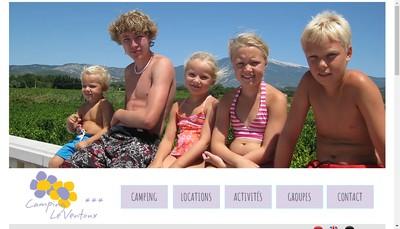 Site internet de SARL Camping le Ventoux
