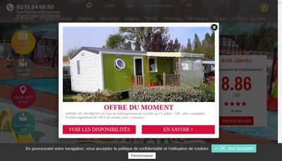 Site internet de Camping le Pont Rouge