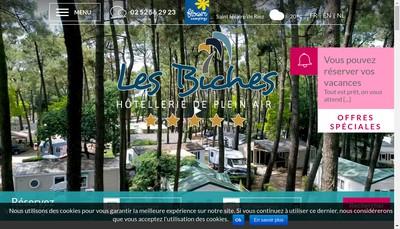 Site internet de Camping des Biches