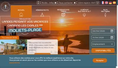 Site internet de Camping les Cigales