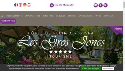 Site internet de Camping les Gros Joncs