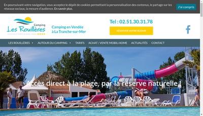 Site internet de Camping les Rouilleres