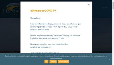 Site internet de Camping les Saules