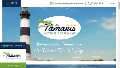 Site internet de Camping les Tamaris