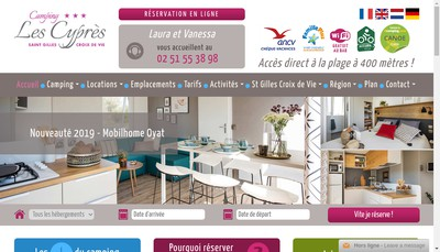 Site internet de Camping les Cypres