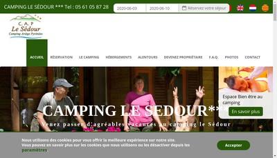 Site internet de Camping du Sedour