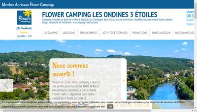 Site internet de Les Ondines