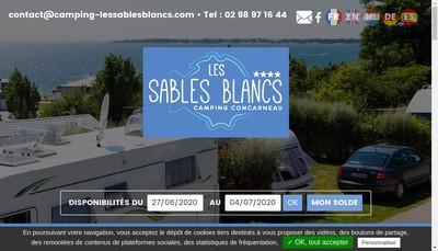 Site internet de Camping des Sables Blancs