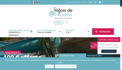 Site internet de Camping les Vallons de l'Ocean
