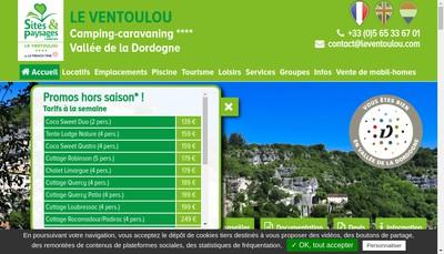 Site internet de Camping le Ventoulou