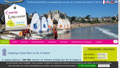Site internet de Camping Longchamp