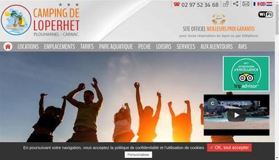 Site internet de Camping de Loperhet