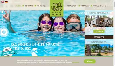 Site internet de Camping l'Oree du Bois