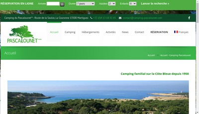 Site internet de Camping Pascalounet