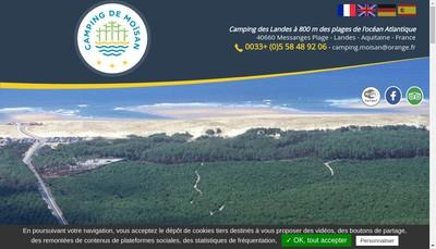 Site internet de Camping de Moisan