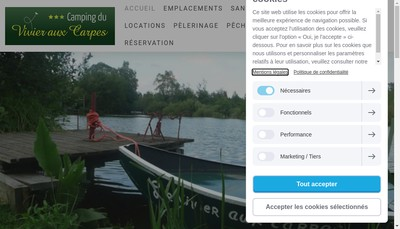 Site internet de SARL Camping International du Vivier aux Carpes