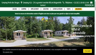 Site internet de Camping Porte des Vosges