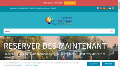 Site internet de Camping du Port