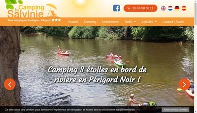 Site internet de Camping la Salvinie