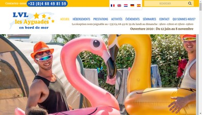Site internet de Camping les Ayguades