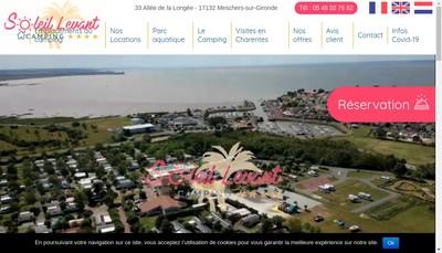 Site internet de Camping le Soleil Levant Ribes