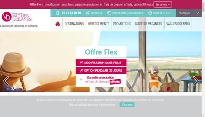 Site internet de Vagues Oceanes
