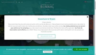 Site internet de Camping du Val de Bonnal