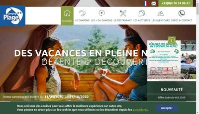 Site internet de Destination Camping