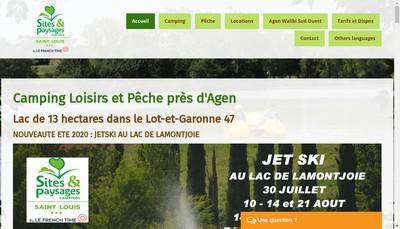 Site internet de Camping Saint Louis