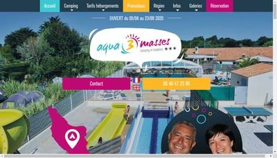 Site internet de Camping Aqua 3 Masses