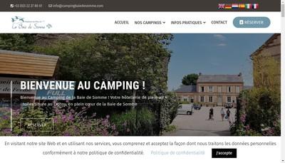 Site internet de Camping de la Baie de Somme