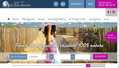 Site internet de Camping de la Belle Henriette