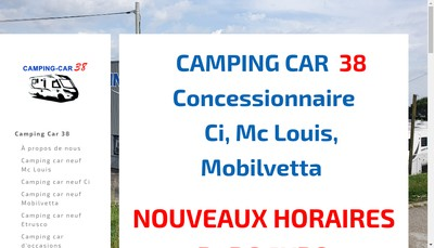 Site internet de Camping-Car 38