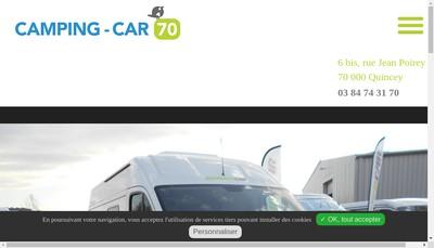 Site internet de Camping Car 70