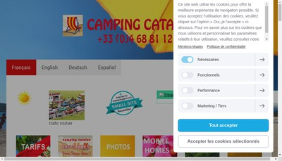 Site internet de Camping Catalan