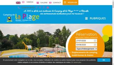 Site internet de SARL Camping de la Plage