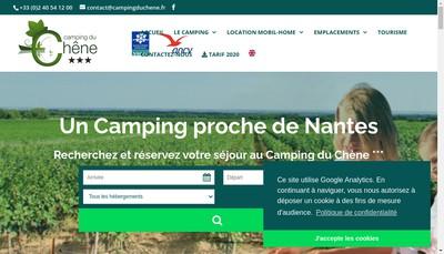 Site internet de Camping du Chene