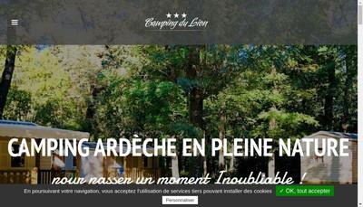 Site internet de Camping du Lion