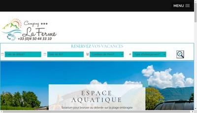 Site internet de Beauquis-Camping la Ferme