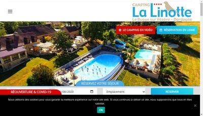 Site internet de SARL Camping la Linotte