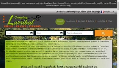 Site internet de Camping Larribal